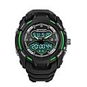 رخيصةأون ساعات الرجال-SANDA رجالي ساعة رياضية ساعة رقمية ياباني رقمي أسود 30 m مقاوم للماء رزنامه ساعة التوقف تناظري-رقمي ترف موضة - أخضر أزرق ذهبي / قضية