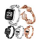 voordelige Antennedopjes-Horlogeband voor Fitbit Versa Fitbit Sportband Roestvrij staal Polsband