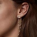 povoljno Naušnice-Žene Kristal Kubični Zirconia mali dijamant Viseće naušnice Ispustiti Kreativan Csillag dame Moda Elegantno Imitacija dijamanta Naušnice Jewelry Zlato / Pink Za Vjenčanje Zabava / večer Angažman