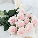 رخيصةأون أزهار اصطناعية-زهور اصطناعية 5 فرع كلاسيكي فردي أنيق النمط الرعوي الورود أزهار الطاولة