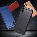 رخيصةأون أغطية أيفون-غطاء من أجل Apple iPhone X / iPhone 8 Plus / iPhone 8 مثلج غطاء خلفي لون سادة ناعم TPU