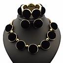 ieftine Produse Fard-Pentru femei Coliere Cercei Brățară Stl Declarație femei Design Unic La modă Elegant Reșină cercei Bijuterii Auriu Pentru Serată Club