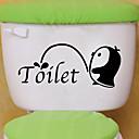 رخيصةأون أدوات الحمام-لواصق المرحاض - ملصقات الحائط الحيوان حيوانات غرفة الجلوس / غرفة النوم / دورة المياه
