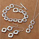 ieftine Accesorii Ceasuri-Pentru femei Cercei Picătură Coliere cu Pandativ Silver Bracelets Stl Urmă Creative femei Stilat Simplu Elegant S925 Sterling Silver cercei Bijuterii Argintiu Pentru Cadou Dată