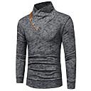 abordables Pulls & Cardigans pour Homme-Tee-shirt Homme, Couleur Pleine - Coton Basique Mince Bleu Marine / Manches Longues