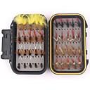 ieftine Momeală Pescuit-40 pcs Muște Δόλωμα seturi Muște Confecționat Manual Lumină și convenabilă Uşor de Folosit Plutire Scufundare Bass Păstrăv Ştiucă Pescuit mare Pescuit cu Muscă Aruncare Momeală Pene Crom