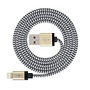ieftine Colier la Modă-Iluminare Cablu >=3m / 9.8ft Împletit Nailon Adaptor pentru cablu USB Pentru iPad / Apple / iPhone