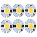 رخيصةأون أجهزة القياس الرقمية & أجهزة قياس الذبذبات-9 واط جولة cob الصمام رقاقة الذكية ic ac 220 فولت ل diy ضوء السقف النازل الدافئة / الباردة الأبيض (6 قطع)