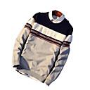 povoljno Muški džemperi i kardigani-Muškarci Izlasci Color block Dugih rukava Regularna Pullover Džemper od džempera, Okrugli izrez Lila-roza / Sive boje M / L / XL
