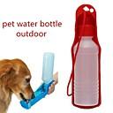 رخيصةأون مستلزمات وأغراض العناية بالكلاب-كلاب قطط الطاسات وزجاجات 0.03-0.05 L بلاستيك المحمول الخارج ألوان متناوبة أحمر أزرق زهري السلطانيات والتغذية