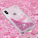 رخيصةأون أغطية أيفون-غطاء من أجل Apple iPhone X / iPhone 8 Plus / iPhone 8 سائل متدفق / شفاف / نموذج غطاء خلفي كارتون / الطباعة الدانتيل / زهور ناعم TPU