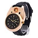 رخيصةأون Huawei أغطية / كفرات-رجالي ساعة المعصم ياباني كوارتز مطاط أسود الكرونوغراف إبداعي تصميم جديد مماثل سوار موضة - ذهبي فضي سنتان عمر البطارية / طرد كبير