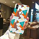 رخيصةأون أغطية أيفون-غطاء من أجل Apple iPhone X / iPhone 8 Plus / iPhone 8 شفاف / نموذج غطاء خلفي نموذج هندسي ناعم TPU
