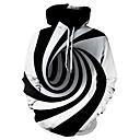 povoljno Muške jakne-Muškarci Veći konfekcijski brojevi Slim Hlače - Geometrijski oblici Obala / S kapuljačom / Dugih rukava / Jesen / Zima