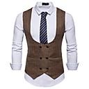 رخيصةأون سترات و بدلات الرجال-رجالي أبيض أسود كاكي L XL XXL Vest الأعمال التجارية / أساسي لون سادة V رقبة نحيل مناسب للحفلات / بدون كم / عمل / نصف رسمي