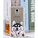 Недорогие Чехлы и кейсы для Galaxy J5(2016)-Кейс для Назначение SSamsung Galaxy J8 / J7 (2017) / J6 Прозрачный / С узором Кейс на заднюю панель С собакой Мягкий ТПУ