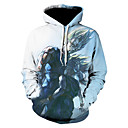 povoljno Muške košulje-Muškarci Veći konfekcijski brojevi Slim Hlače - Geometrijski oblici Plava / Okrugli izrez / Dugih rukava / Jesen / Zima