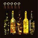 povoljno LED noćna rasvjeta-BRELONG® 5pcs Čep za boce vina LED noćno svjetlo Toplo bijelo / Bijela / Crveno Gumb Baterija pogonjena Bežično / Kreativan / Vjenčanje <5 V Žice sa svjetlima