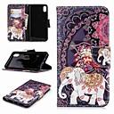 رخيصةأون أغطية أيفون-غطاء من أجل Apple iPhone XS / iPhone XR / iPhone XS Max محفظة / حامل البطاقات / مع حامل غطاء كامل للجسم حيوان / فيل قاسي جلد PU
