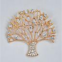 رخيصةأون بروشات-نسائي دبابيس فراغ خارجي شجرة الحياة سيدات أنيق كلاسيكي حجر الراين بروش مجوهرات ذهبي من أجل مناسب للبس اليومي