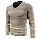 povoljno Muški džemperi i kardigani-Muškarci Izlasci Jednobojni Dugih rukava Regularna Pullover Džemper od džempera, V izrez Crn / Sive boje / Žutomrk M / L / XL