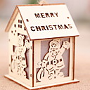 cheap Home Decoration-Decoration Light Christmas Wooden House Shaped Novelty Christmas Decoration