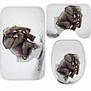 رخيصةأون سجادات-3 قطعات الحديث مماسح الحمام 100g / m2 البوليستر الإمتداد حك حيوان غير منتظم تصميم جديد