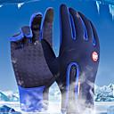 ieftine Mănuși Cycling-Iarnă Mănuși pentru ciclism Mănuși Ski Ciclism montan Keep Warm Ecran tactil Impermeabil Rezistent la Vânt Deget Întreg Mănușă Touchscreen Activități/ Mănuși de sport Lână Gel de silicon Negru