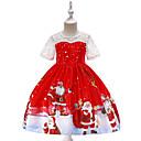 رخيصةأون أطقم ملابس البنات-فستان طول الركبة كم قصير كارتون / عيد الميلاد مناسب للحفلات / مناسب للعطلات عتيق / رياضي Active للفتيات أطفال / طفل صغير