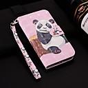 رخيصةأون أطقم المجوهرات-غطاء من أجل Samsung Galaxy Note 9 محفظة / حامل البطاقات / مع حامل غطاء كامل للجسم باندا قاسي جلد PU