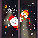 levne Doplňky na okna-Okenní film a samolepky Dekorace Zvířecí / Vánoce Postavička PVC Nálepka na okna / Rozkošný / Legrační