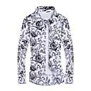 povoljno Muške košulje-Veći konfekcijski brojevi Majica Muškarci - Aktivan Dnevno Geometrijski oblici Print Obala / Dugih rukava