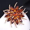 olcso Brossok-Női Citromsárga Melltűk Többrétegű 3D Virág hölgyek Vintage Színes Strassz Arannyal bevont Bross Ékszerek Szivárvány Fehér Világosbarna Kompatibilitás Estély Fesztivál