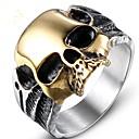 Недорогие Кольца-Муж. Midi Ring 1шт Золотой Титановая сталь Геометрической формы Винтаж Для вечеринок Повседневные Бижутерия Старинный Череп Cool