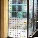رخيصةأون الستائر-فيلم نافذة وملصقات زخرفة العادي هندسي PVC ملصق النافذة