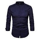 povoljno Muške košulje-Majica Muškarci Izlasci / Rad Jednobojni Slim Obala / Dugih rukava
