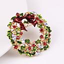 povoljno Broševi-Žene Kubični Zirconia Broševi Klasičan Konj Cvijet Klasik Crtići Slatka Style Broš Jewelry Zeleni / Crveni Za Božić Dnevno