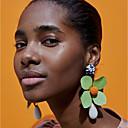 رخيصةأون أقراط-نسائي أقراط قطرة قديم وردة سيدات عتيق الأفريقي الأقراط مجوهرات أصفر / أخضر من أجل مناسب للبس اليومي 1 زوج