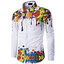 povoljno Muške košulje-Majica Muškarci Izlasci Duga Slim, Vintage Style Duga / Dugih rukava / Proljeće / Jesen / Zima