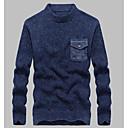 povoljno Muški džemperi i kardigani-Muškarci Izlasci / Vikend Jednobojni Dugih rukava Slim Regularna Pullover Džemper od džempera, Okrugli izrez Lila-roza / Vojska Green / Navy Plava M / L / XL