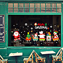رخيصةأون الستائر-فيلم نافذة وملصقات زخرفة حيوانات / عيد الميلاد شخصية PVC ملصق النافذة / بديع / مضحك