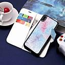 voordelige iPhone X hoesjes-hoesje Voor Apple iPhone XS / iPhone XR / iPhone XS Max Portemonnee / Kaarthouder / met standaard Volledig hoesje Bloem Hard PU-nahka