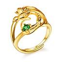 ieftine Inele-Pentru femei Inel reglabil inel de înfășurare Zirconiu Cubic 1 buc Auriu Articole de ceramică femei Romantic Modă Logodnă Cadou Bijuterii Pasăre