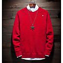 povoljno Sigurnosni senzori-Muškarci Izlasci Jednobojni Dugih rukava Slim Regularna Pullover Džemper od džempera, Okrugli izrez Crn / Vojska Green / Red M / L / XL