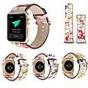 رخيصةأون أساور ساعات هواتف أبل-حزام إلى Apple Watch Series 4/3/2/1 Apple عقدة جلدية جلد طبيعي شريط المعصم
