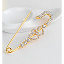 ieftine Cercei-Pentru femei Broșe #D Inimă Hollow Heart femei Stilat Design Unic Ștras Placat Auriu Broșă Bijuterii Auriu Pentru Zilnic Muncă