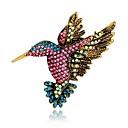 ieftine Broșe-Pentru femei Broșe Stil Vintage #D Pasăre Animal femei Design Unic Vintage De Fiecare Zi extravagant Ștras Placat Auriu Broșă Bijuterii Curcubeu Pentru Serată Stradă