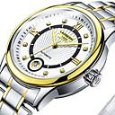 ieftine Ceasuri Damă-Bărbați Pentru cupluri Ceas Elegant ceas mecanic ceas de aur Japoneză Mecanism automat Supradimensionat Oțel inoxidabil Argint 30 m Rezistent la Apă Iluminat Mare Dial Analog Clasic Casual Modă -