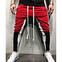 povoljno Chinos-Muškarci Osnovni / Ulični šik Veći konfekcijski brojevi Izlasci Slim Sportske hlače Hlače - Color block Obala Red Bijela XL XXL XXXL
