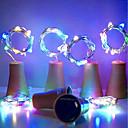 رخيصةأون أضواء شريط LED-hkv® الشمسية 10led زجاجة النبيذ الفلين على شكل سلسلة أضواء النجوم أضواء الليل الجنية مصباح لحديقة الزفاف وحفلة عيد الميلاد